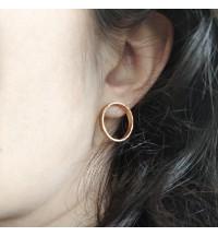 Boucles d'oreilles anneaux martelés