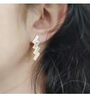 Boucles d'oreilles Zig Zag