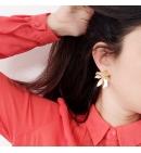 Boucles d'oreilles fleurs deux pièces