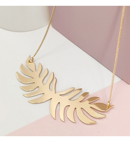 Collier double feuille