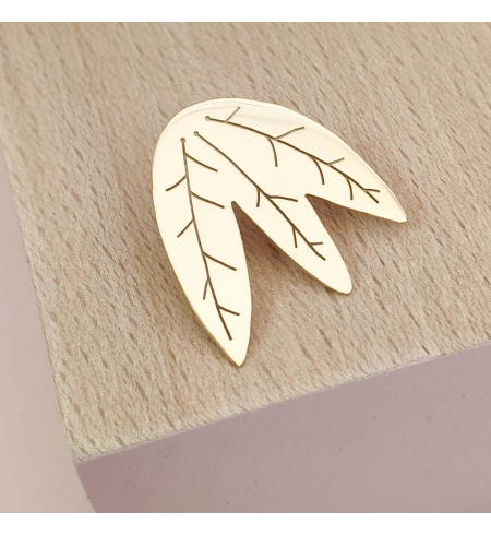 Boucles d'oreilles feuilles ajourées