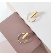 Boucles d'oreilles anneaux ondulés / barres
