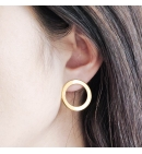 Boucles d'oreilles cercles troués
